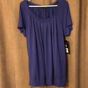 Purple XL blouse; NWT